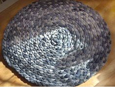 Old jeans repurpose into a braided rug...love it!