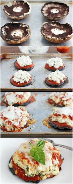 {Lasagna Stuffed} Portabella Mushrooms #omg