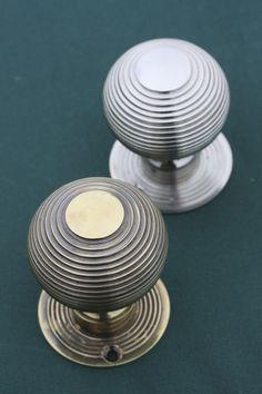 Door Knobs Beehive in Nickel and Brass from Priors Period Ironmongery. http://www.priorsrec.co.uk/richmond-beehive-nickel-door-knobs/p-3-22-70-332