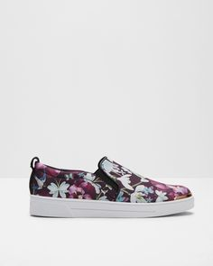 Entangled Enchantment slip-on sneakers - Navy   Shoes   Ted Baker