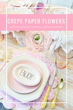 crepe paper flowers,