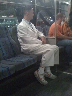 Forrest Gump on the bus.