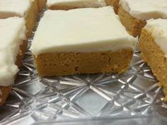 Fireball Pumpkin Bars - This recipe is from a local restaurant in Lawrence, KS (Sandwich Bowl)