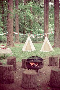 Acampamento charmoso