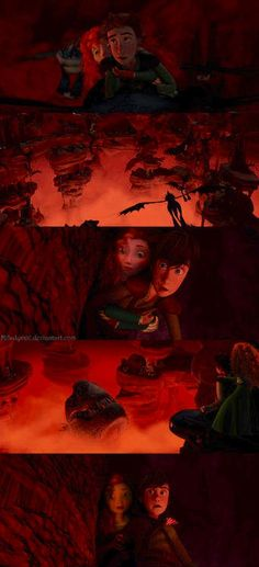 Hiccup and Merida find one of the Bad Four.
