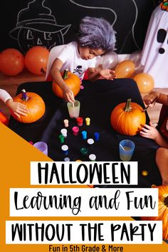 This post gives so many great ideas for Halloween activities without having a party! Your upper elementary students will have fun with these Halloween activities that will have your students learning! Includes math, writing, reading, social studies, science Fun Halloween Activities, Autumn Activities, Activities To Do, Halloween Fun, Student Learning, Fun Learning, Upper Elementary, Elementary Math, Math Websites