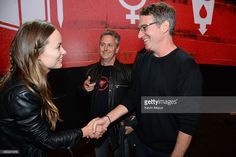 Olivia Wilde, Mike McCready and Stone Gossard attend 2015 Global Citizen Festival to end extreme poverty by 2030 in Central Park on September 26, 2015 in New York City.