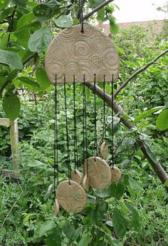 Celtic Summer, Unique Ceramic Wind Chimes.