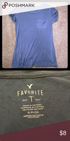 AE top Dark blue favorite t from American eagle. American Eagle Outfitters Tops