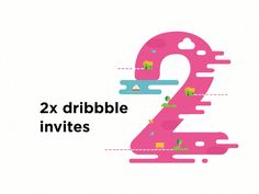 Two invites giveaway by Parinishtha  #Design Popular #Dribbble #shots