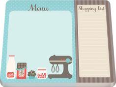 Shopping List Make-A-List Notepad