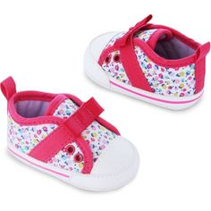 Child of Mine by Carter's Newborn Baby Girl Printed Sneakers, 0-3M - Walmart.com