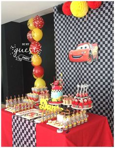 Cars Disney Movie Birthday Party Ideas