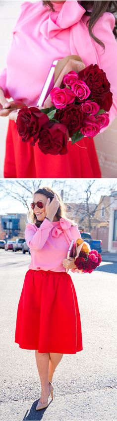 With self-tie bow on one side of the tunnel neckline, this loving piece comes in romantic candy pink color. Kiss Me Bow Top in Candy Pink featured by denverdarling Blog