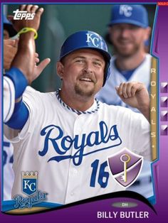 TOPPS-BUNT-KEY-BOOST-BILLY-BUTLER-KANSAS-CITY-ROYALS-ONLY-300-EXIST