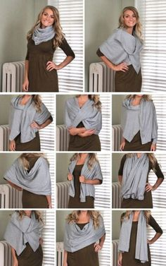 DIY Lululemon's Vinyasa Scarf Tutorial. Easy DIY and only takes a yards of fabric and snaps. DIY Lululemon's Vinyasa Scarf Tutorial. Easy DIY and only takes a yards of fabric and snaps. Lululemon Vinyasa Scarf, Diy Scarf, Scarf Cardigan, Scarf Knots, Scarf Wrap, Diy Kleidung, Scarf Tutorial, How To Wear Scarves, Ways To Wear A Scarf
