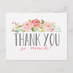 Rose Banner Baby Shower Thank You Card Thank You Card Size, Custom Thank You Cards, Thank You Gifts, Custom Cards, Thank You Greeting Cards, Baby Shower Thank You Cards, Floral Baby Shower, Shower Baby, Heart Balloons