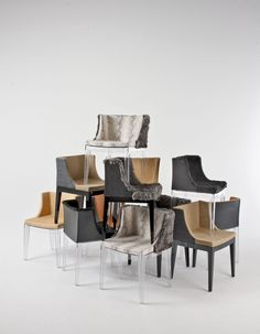 Lenny Kravitz Re Interprets Six U0027mademoiselleu0027 Chairs Originally Designed  By Philippe Starck For Kartell. Kravitz Draped Each Chair In An Mixture Of  Exotic ...