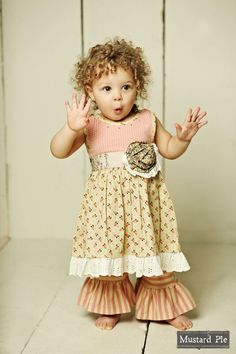 4917725f5f1 Amber Fields Brick Olivia Dress Set by Mustard Pie. Adorables Children  Boutique
