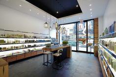 #nichemodern #hangingpendantlights at #aveda Beauty Store