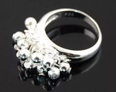 Bead Ball Ring Size 9 by JewelryLoveCharm on Etsy