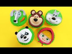 MASHA and The Bear CUPCAKES How To Make by Cakes StepbyStep - YouTube