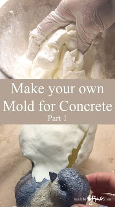 Make your own mold for concrete, pour your own concrete objects, It's quite easy to do using this recipe for mold making material