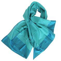 » silk scarf handwoven | iris