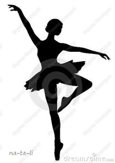 Silhouettes for the paper snowflake ballerinas. The silhouette would also be a cute car magnet in honor of my little dancer. by enidstrydom