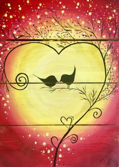 Hey! Check out Wood Pallet Love Birds at The Tasting Room - Fresno - Paint Nite