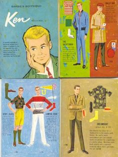 Vintage - Ken Fashion Illustrations