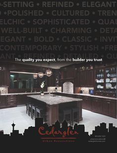 Cedarglen Urban Renovations magazine advert. Magazine Advert, Contemporary, Elegant, Classic, Building, Train, Classy, Buildings, Classical Music