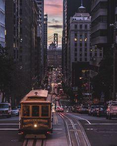 California St in San Francisco by Chris Henderson #sanfrancisco #sf #bayarea #alwayssf #goldengatebridge #goldengate #alcatraz #california