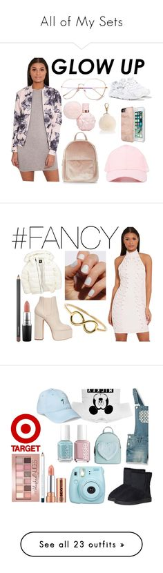 """""""All of My Sets"""" by paulahastings ❤ liked on Polyvore featuring New Look, Salvatore Ferragamo, F.A.M.T., Ali & Jay, Uniqlo, Rebecca Minkoff, Laurence Dacade, MAC Cosmetics, SoGloss and Love Is"""