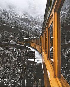 amazing shot of a train ride in Denver, Colorado. Photo by Jude Allen.