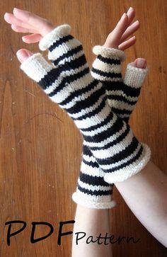 Fingerless Gloves PDF Knitting PATTERN - Mary's Fingerless Gloves; $5.00