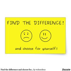 Find the difference and choose for yourself rectangular sticker