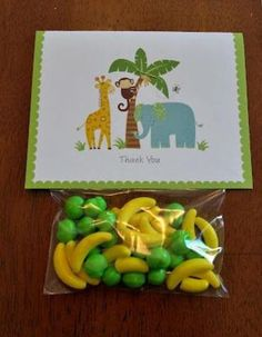 Find the best safari baby shower favors! Get the top favor ideas that all your guests will love. Unique and creative safari baby shower favor ideas Baby Shower Party Favors, Baby Shower Parties, Baby Shower Themes, Baby Boy Shower, Baby Shower Decorations, Baby Shower Gifts, Shower Ideas, Baby Favors, Baby Shower Monkey
