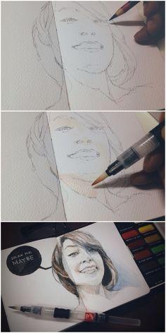 Watercolor on sketchbook