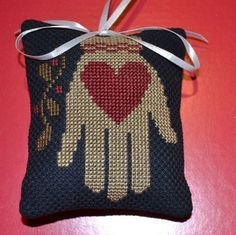 Finished / Completed Prairie Schooler Cross Stitch Christmas Ornament