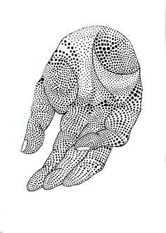 hand - Alana Dee Haynes : http://alanadeehaynes.tumblr.com/post/31691148190/aquaticwonder-in-my-palm-by-alana-dee-haynes