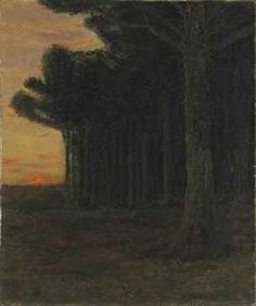 """""""White Pine Trees, Connecticut,"""" Charles Warren Eaton, oil on canvas, 24 x 20"""", private collection."""