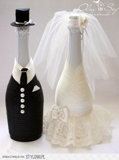 Wine Bottle Art, Diy Bottle, Wine Bottle Crafts, Diy Crafts For Home Decor, Diy Arts And Crafts, Diy Crafts To Sell, Wedding Wine Bottles, Wedding Wine Glasses, Wedding Crafts