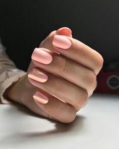 Pin by Lisa Firle on Nageldesign - Nail Art - Nagellack - Nail Polish - Nailart - Nails in 2020 Hair And Nails, My Nails, Crome Nails, Nail Polish, Short Nail Designs, Cute Acrylic Nails, Pretty Gel Nails, Perfect Nails, Trendy Nails