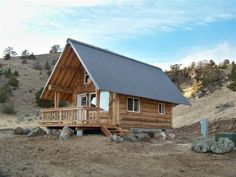 The cabin is x with a full loft, studio kitchen, bath, great room and set on a crawl space foundation that can be used for storage. Small Cabin Plans, Small Log Cabin, Cabin House Plans, Tiny Cabins, Tiny House Cabin, Cabins And Cottages, Log Cabins, Log Cabin Living, Log Cabin Homes