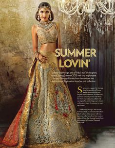 Sulakshana Monga Spring/Summer 2015 Collection - VOGUE INDIA - April 2015