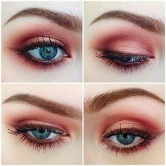 Grunge Makeup Look Idea: Red Eyeshadows If you really want to use red, but you don't want to be too out there, a more faded red is the perfect solution as seen here. The ash red eye liner when combined with the shadow makes for a wonderful makeup choice, something new, something fresh, and something grunge. The color is almost reminiscent of autumn months.
