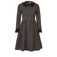 Window Pane Jacquard Frill Collar Dress 15AWWPS751-Onyx.jpg