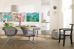 Reihenhängung: alles in einer Linie - Wände mit Bildern dekorieren: die richtige Hängung 4 - [SCHÖNER WOHNEN]