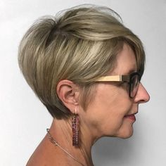 Latest Short Hairstyles Trends 2018 - Page 2 of 6 - Latest Hairstyles 2020 Short Pixie Haircuts, Cute Hairstyles For Short Hair, Short Hair Cuts For Women, Latest Hairstyles, Hairstyles Haircuts, Shortish Hairstyles, Glasses Hairstyles, Blonde Hairstyles, Beautiful Hairstyles